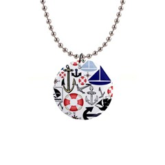 Nautical Collage Button Necklace