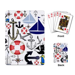 Nautical Collage Playing Cards Single Design