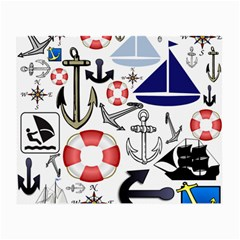 Nautical Collage Glasses Cloth (Small, Two Sided)