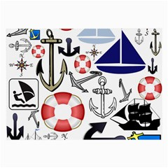 Nautical Collage Glasses Cloth (Large)
