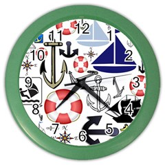 Nautical Collage Wall Clock (Color)