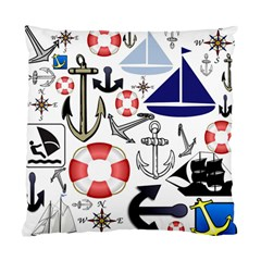 Nautical Collage Cushion Case (Two Sided)