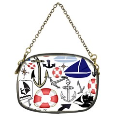 Nautical Collage Chain Purse (Two Sided)