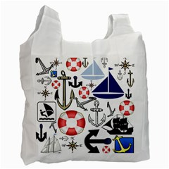 Nautical Collage Recycle Bag (One Side)