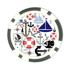 Nautical Collage Poker Chip (10 Pack)
