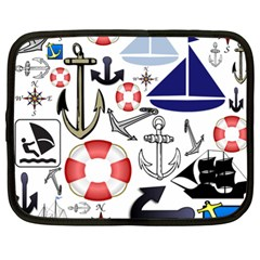 Nautical Collage Netbook Sleeve (xxl)