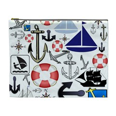 Nautical Collage Cosmetic Bag (XL)