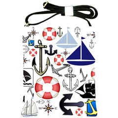 Nautical Collage Shoulder Sling Bag