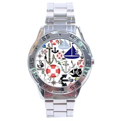 Nautical Collage Stainless Steel Watch