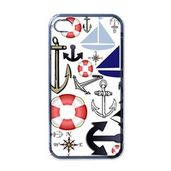 Nautical Collage Apple Iphone 4 Case (black)