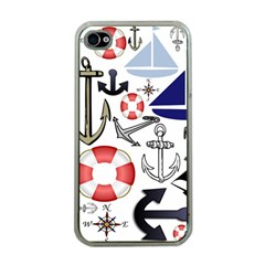 Nautical Collage Apple Iphone 4 Case (clear)