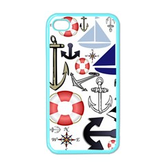 Nautical Collage Apple iPhone 4 Case (Color)