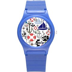 Nautical Collage Plastic Sport Watch (small)