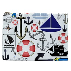 Nautical Collage Cosmetic Bag (XXL)