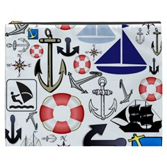 Nautical Collage Cosmetic Bag (xxxl)