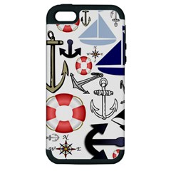 Nautical Collage Apple Iphone 5 Hardshell Case (pc+silicone)