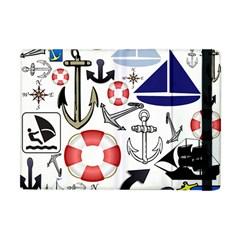 Nautical Collage Apple Ipad Mini Flip Case