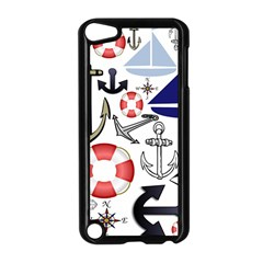 Nautical Collage Apple iPod Touch 5 Case (Black)
