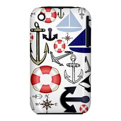 Nautical Collage Apple Iphone 3g/3gs Hardshell Case (pc+silicone)