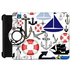 Nautical Collage Kindle Fire HD 7  (1st Gen) Flip 360 Case