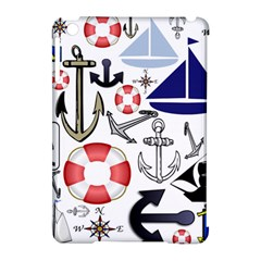 Nautical Collage Apple Ipad Mini Hardshell Case (compatible With Smart Cover)