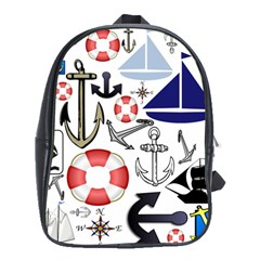 Nautical Collage School Bag (XL)