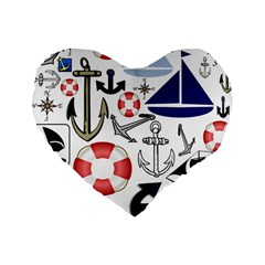 Nautical Collage 16  Premium Heart Shape Cushion