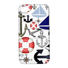 Nautical Collage Apple Iphone 4/4s Hardshell Case With Stand