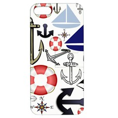 Nautical Collage Apple Iphone 5 Hardshell Case With Stand