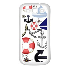 Nautical Collage Samsung Galaxy S3 Back Case (White)