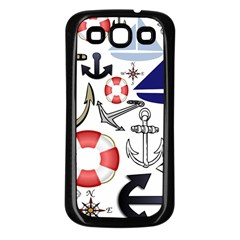 Nautical Collage Samsung Galaxy S3 Back Case (Black)