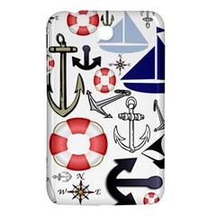 Nautical Collage Samsung Galaxy Tab 3 (7 ) P3200 Hardshell Case