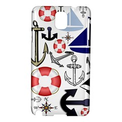 Nautical Collage Samsung Galaxy Note 3 N9005 Hardshell Case