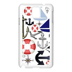 Nautical Collage Samsung Galaxy Note 3 Case (white)