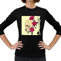 Skeleton Women s Long Sleeve T-shirt (Dark Colored)
