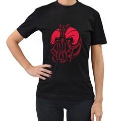 The Evil ! Women s T Shirt (black)