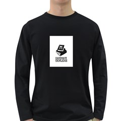 HARDBACK KNOWLEDGE LOGO 1 Men s Long Sleeve T-shirt (Dark Colored)