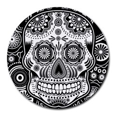 Sugar Skull 8  Mouse Pad (Round)