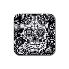 Sugar Skull Drink Coaster (square)