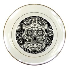 Sugar Skull Porcelain Display Plate