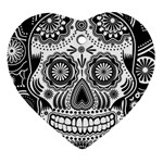 Sugar Skull Heart Ornament (Two Sides) Front