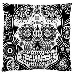 Sugar Skull Large Cushion Case (single Sided)