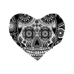 Sugar Skull 16  Premium Heart Shape Cushion