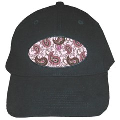 Paisley In Pink Black Baseball Cap