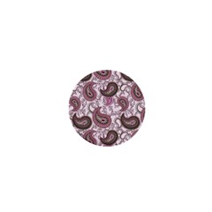 Paisley in Pink 1  Mini Button