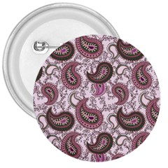 Paisley in Pink 3  Button