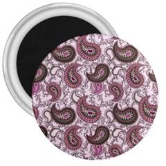 Paisley in Pink 3  Button Magnet