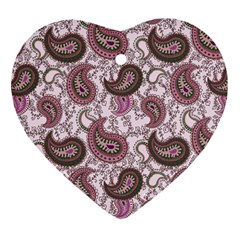 Paisley in Pink Heart Ornament