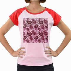 Paisley in Pink Women s Cap Sleeve T-Shirt (Colored)