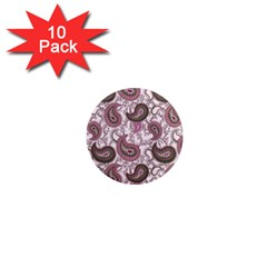 Paisley in Pink 1  Mini Button Magnet (10 pack)